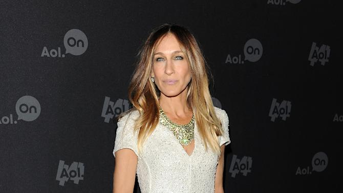 "Actress Sarah Jessica Parker attends AOL's web series ""NewFront"" at Moynihan Station on Tuesday April 30, 2013 in New York. (Photo by Evan Agostini/Invision/AP)"