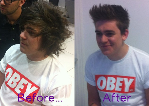 Frankie Cocozza, haircut