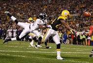 Antonio Brown of the Pittsburgh Steelers has a pass defended by Ladarius Webb of the Baltimore Ravens in 2011. The Baltimore Ravens, off to a 5-1 start in the National Football League campaign, have lost veteran linebacker Ray Lewis and defensive back Ladarius Webb for the season, coach John Harbaugh said
