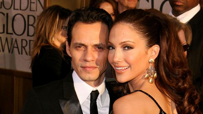 Jennifer Lopez and Marc Anthony at the 64th annual Golden Globe Awards.