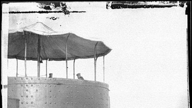 FILE - This undated file photo released by NOAA shows the USS Monitor. The remains of two unknown Union sailors recovered from the Civil War ironclad USS Monitor will be interred in Arlington National Cemetery on March 8, Navy Secretary Ray Mabus said Tuesday, Feb. 12, 2013. (AP Photo/NOAA, File)