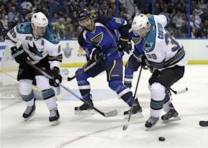 Havlat's goal lifts Sharks past Blues 3-2 in 2 OT