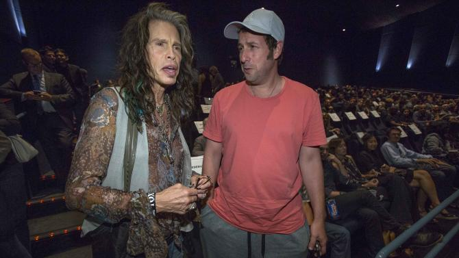 """Musician Tyler and actor Sandler attend a special screening of """"Jimi: All Is by My Side"""" at the ArcLight theatre in Los Angeles"""