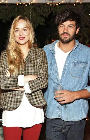 Dakota Johnson, and Jordan Masterson attend Jane Booke's clothing and fragrance line launch party for 'Taken' with co-host Rosanna Arquette on September 29, 2012 in Los Angeles -- Getty Images