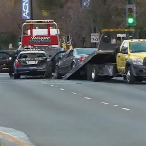 Raw Video: Scene Of San Jose Police Patrol Car Crash