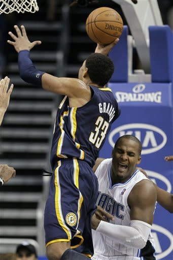 Howard scores 30 as Magic get past Pacers 107-94