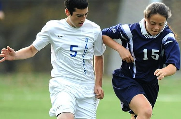 Kayla Franklin (right) leads the Kimberton Waldorf boys' soccer team in scoring -- Philadelphia Inquirer