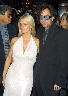 Lisa Marie and Tim Burton at the New York premiere of 20th Century Fox's Planet Of The Apes
