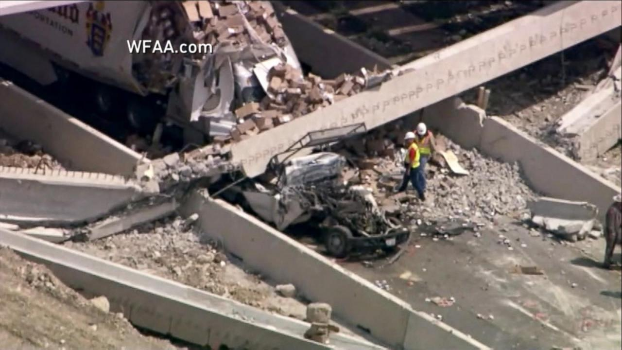 One killed, several injured in Texas highway beam collapse