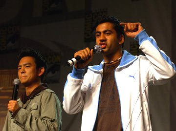 John Cho and Kal Penn Harold and Kumar Go to White Castle panel 2004 San Diego Comic-Con International - 7/23/2004