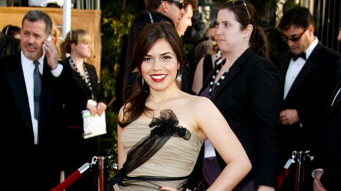 America Ferrera arrives at the 15th Annual Screen Actors Guild Awards held at the Shrine Auditorium on January 25, 2009 in Los Angeles, California.