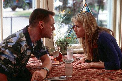 Hank ( Jim Carrey ) provokes Irene ( Renee Zellweger ) in 20th Century Fox's Me, Myself & Irene
