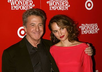 Dustin Hoffman and Natalie Portman at the New York City premiere of Fox Walden's Mr. Magorium's Wonder Emporium