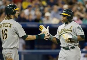 Crisp hits 2 HRs, A's romp to 7th straight win