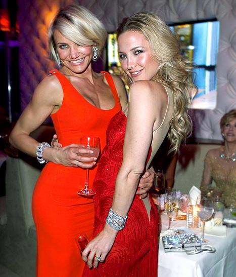 Rivals Cameron Diaz, Kate Hudson Make Nice at Oscars Bash