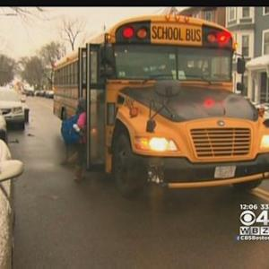 Students Head Back To School As Snow Clean Up Continues