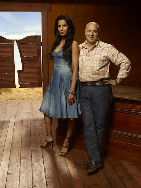 "Padma Lakshmi and Tom Colicchio in Season 9 of ""Top Chef."""