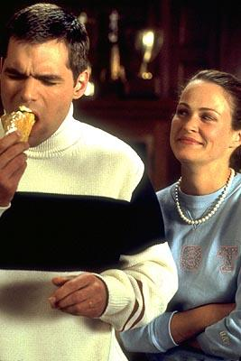 D.I.K. frat boy Richard Bagg ( Daniel Cosgrove ) and his eager assistant Jeannie ( Emily Rutherfurd ) in Artisan's National Lampoon's Van Wilder