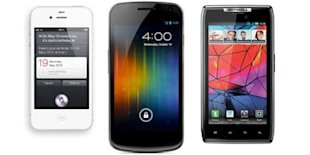 iPhone 4S vs Samsung Galaxy Nexus vs Motorola Razr