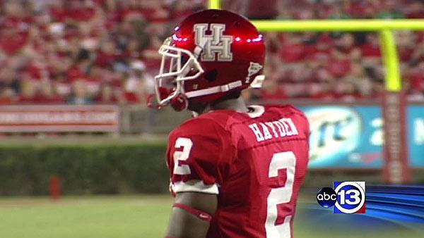 UH football player released from hospital