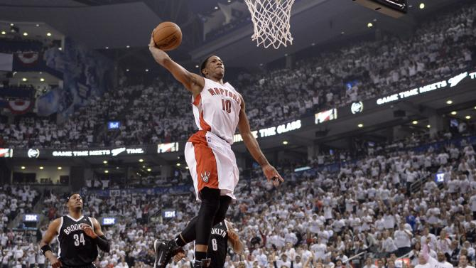 Raptors blow 26-point lead but beat Nets 115-113