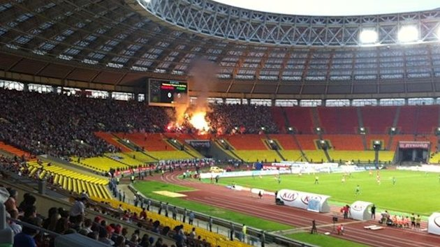 Spartak Moscow play at the Luzhniki Stadium