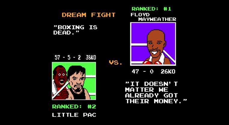 Watch the Mayweather-Pacquiao Fight in Punch-Out!!