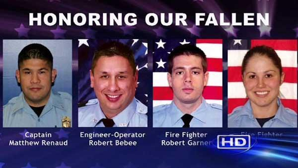 Fallen HFD firefighters honored in public memorial