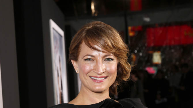 """Zoe Bell arrives at the premiere of """"Hansel & Gretel Witch Hunters"""" on Thursday Jan. 24, 2013, in Los Angeles.  (Photo by Todd Williamson/Invision/AP)"""