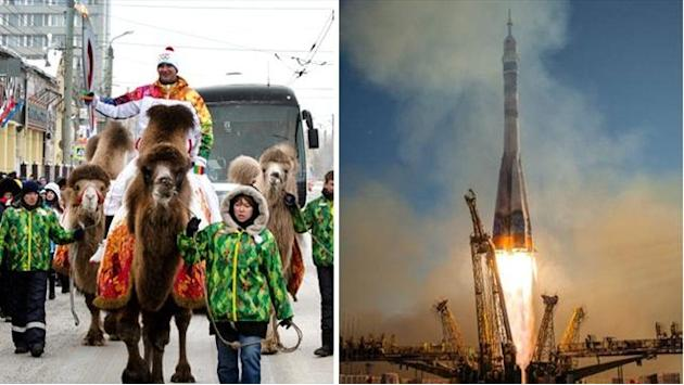 Winter Sports - Camels, space rockets and fatal heart attacks: The most bizarre Olympic torch relay ever
