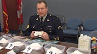 RCMP Sgt. Steve Conohan displays some of the bewildering and dangerous synthetic drugs recently seized in N.L.