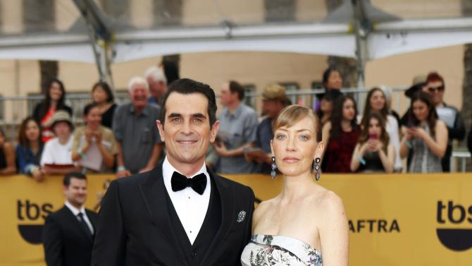 Ty Burrell and Holly Anne Brown arrive at the 21st annual Screen Actors Guild Awards in Los Angeles
