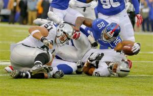 NFL: Oakland Raiders at New York Giants