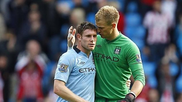 James Milner, left, expects Joe Hart, right, to silence his critics