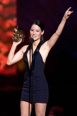 "Lucy Liu ""Do I Look Fat In This Fight"" Award VH-1 Big in 2002 Awards - 12/4/2002"