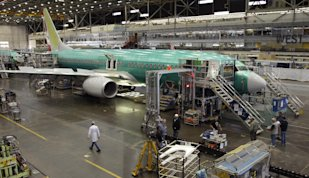 Boeing 737 Factory: Credit AP