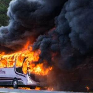 Australian bus explodes with children inside