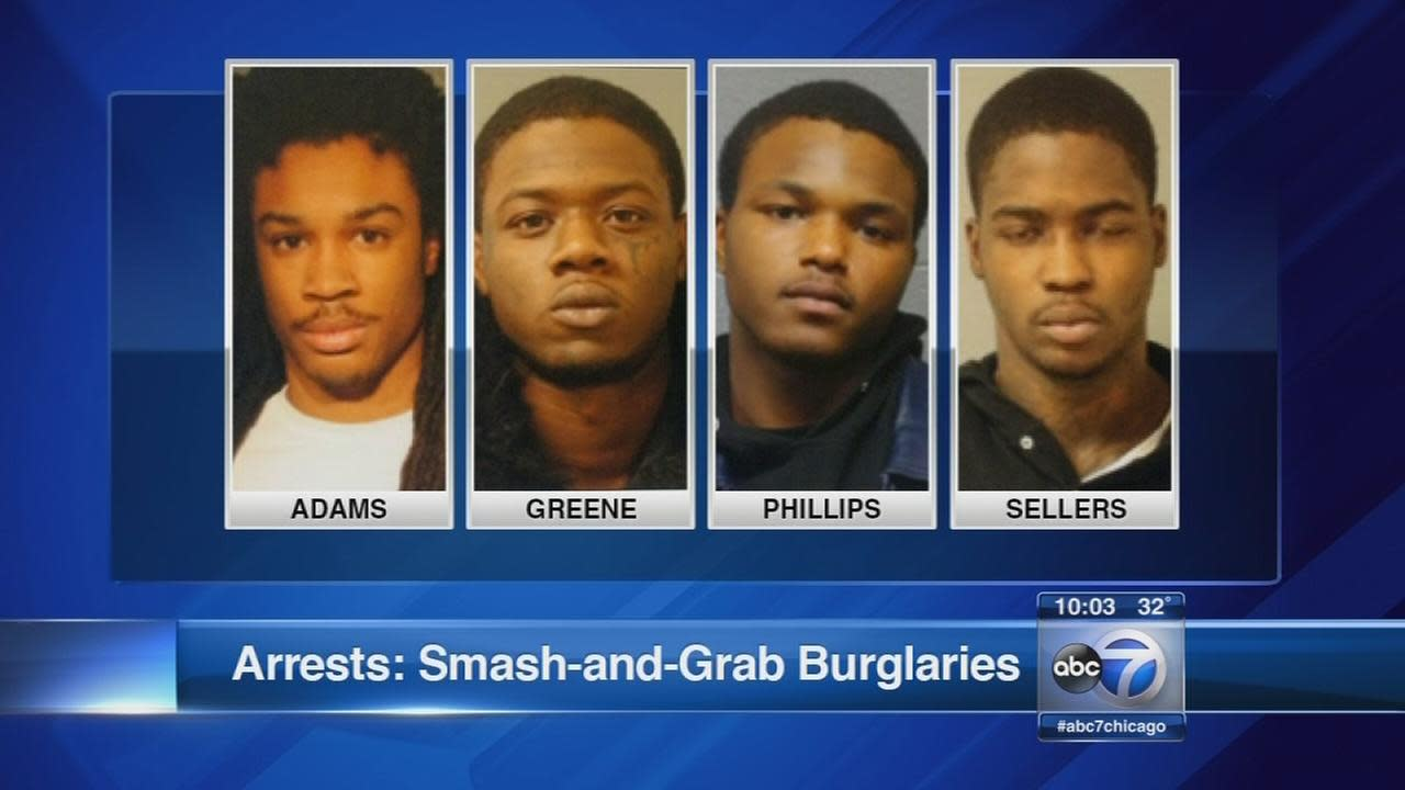Chicago police arrest several in alleged smash-and-grab burglary ring