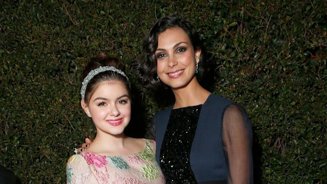 Actresses Ariel Winter, left, and Morena Baccarin attend the Fox Golden Globes Party on Sunday, January 13, 2013, in Beverly Hills, Calif. (Photo by Todd Williamson/Invision for Fox Searchlight/AP Images)