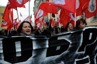 An anti-capitalism rally in Moscow on Sunday. Moscow authorities have agreed to allow a large-scale opposition rally at the weekend, the latest in a wave of protests against President Vladimir Putin that have swept Russia since December