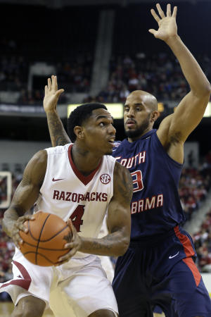 Portis leads Arkansas past South Alabama