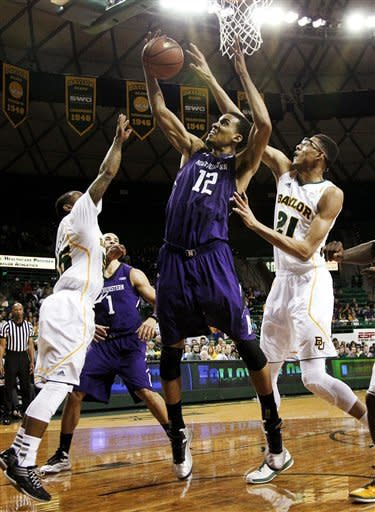 Northwestern holds on for 74-70 victory at Baylor