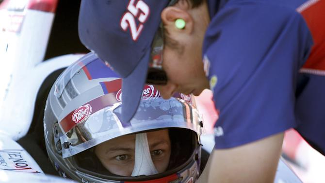 Andretti doesn't believe it's easy working for dad