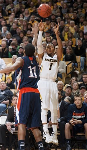 No. 12 Missouri barely holds off Bucknell