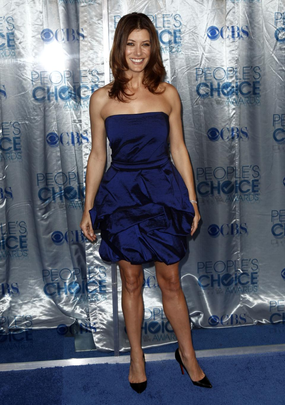 Kate Walsh arrives at the People's Choice Awards on Wednesday, Jan. 5, 2011, in Los Angeles. (AP Photo/Matt Sayles)