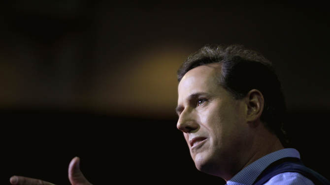 Republican presidential candidate, former Pennsylvania Sen. Rick Santorum speaks to the Southern Republican Leadership Conference, Thursday, Jan. 19, 2012, in Charleston, S.C. (AP Photo/David Goldman)