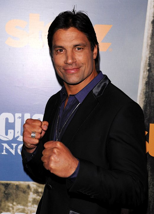 Manu Bennett attends the Starz Original Series &quot;Spartacus: Vengeance&quot; Premiere Event at ArcLight Cinemas Cinerama Dome on January 18, 2012 in Hollywood, California. 