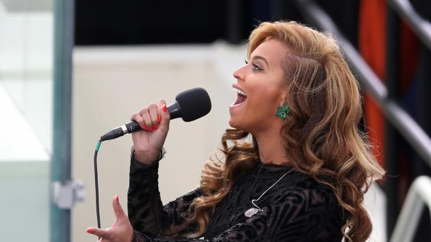 Beyonce performs the National Anthem during the public ceremonial inauguration for U.S. President Barack Obama on the West Front of the U.S. Capitol January 21, 2013 in Washington, DC -- Getty Premium