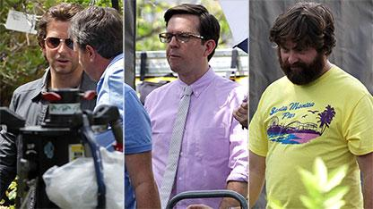 Wolfpack Snapped on 'Hangover 3' Set
