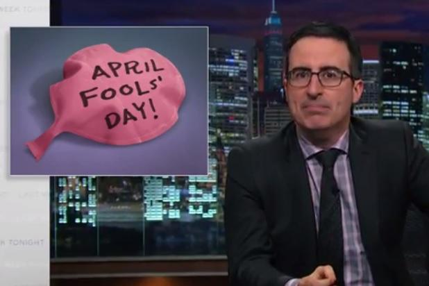John Oliver Tells Viewers to 'Stop Being a D–k' on April Fools' Day (Video)